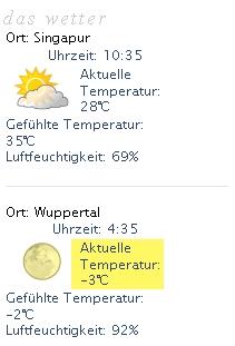 So langsam wird es kalt in Deutschland. Brrrr. Zum Glück ist es hier noch warm.