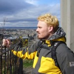 Greg in Edinburgh mit neuer Haarfarbe